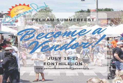 Book your Vendor Booth for Pelham Summerfest