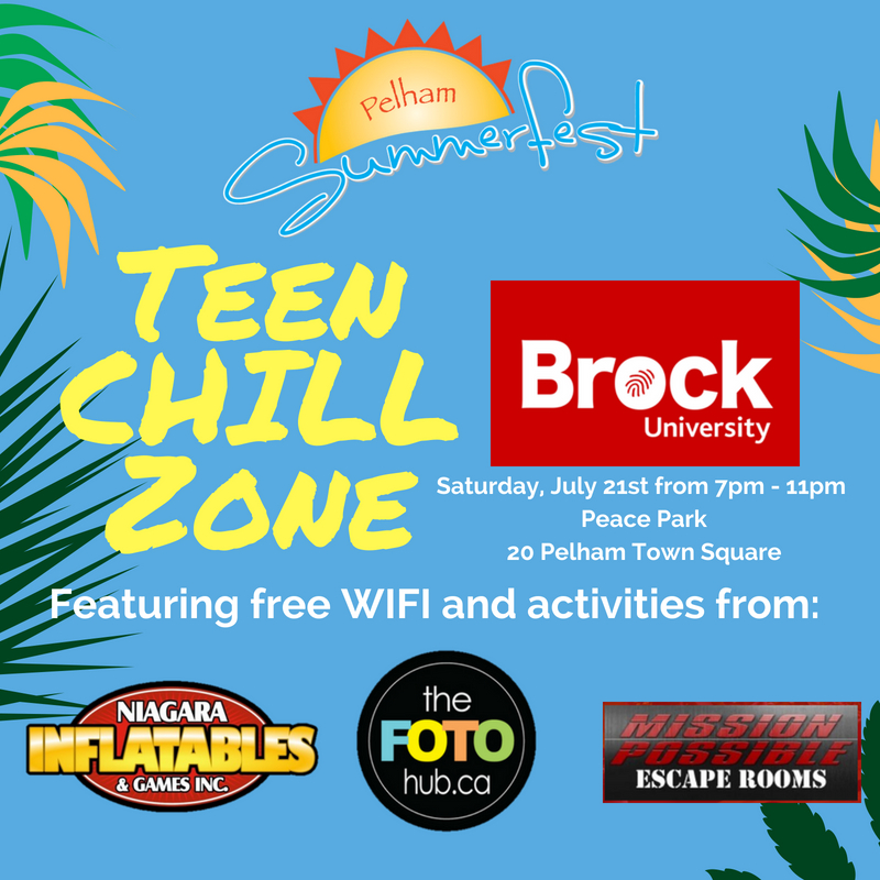 TEEN CHILL ZONE at Summerfest – Come Chill on the Hill!