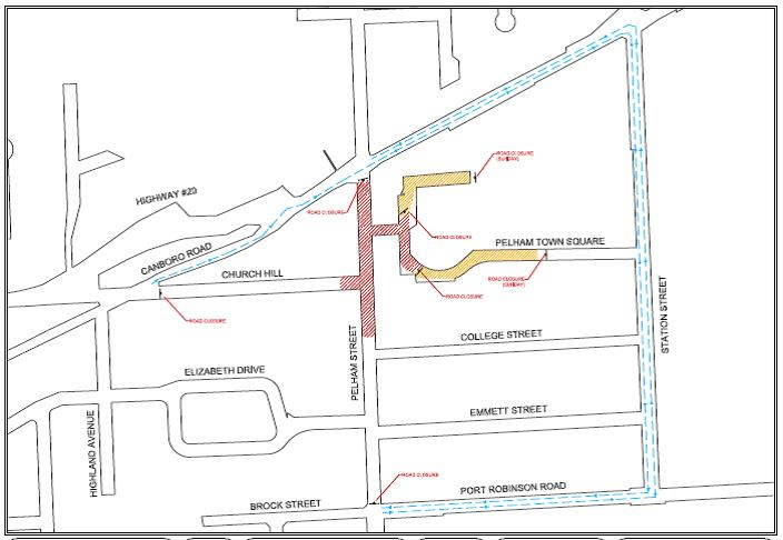 Summerfest 2016 road closure Layout 2
