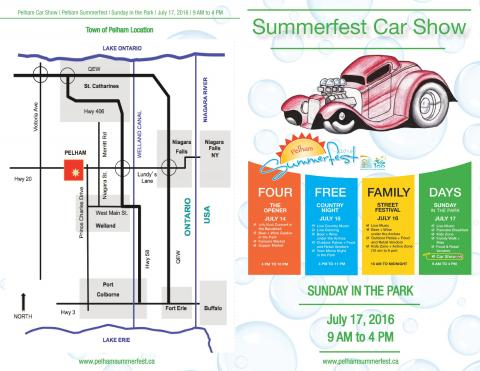 Pelham Summerfest Car Show – New for 2016