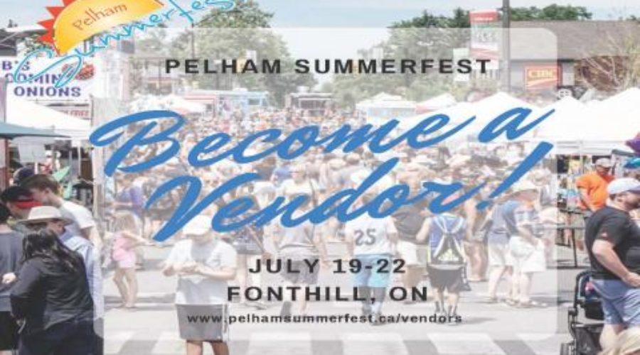 Book your Vendor Booth for Pelham Summerfest