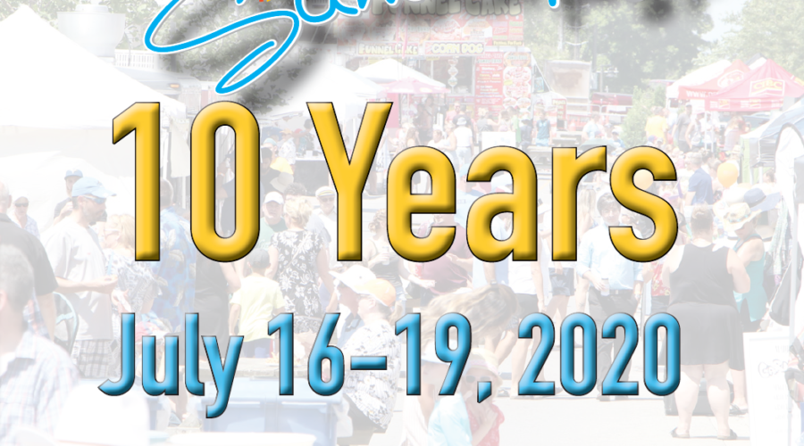 SAVE THE DATE!  July 16-19, 2020 Pelham Summerfest celebrates it's 10th year!